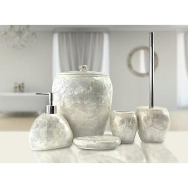 İrya Sedef 5 Parça Banyo Seti Beyaz